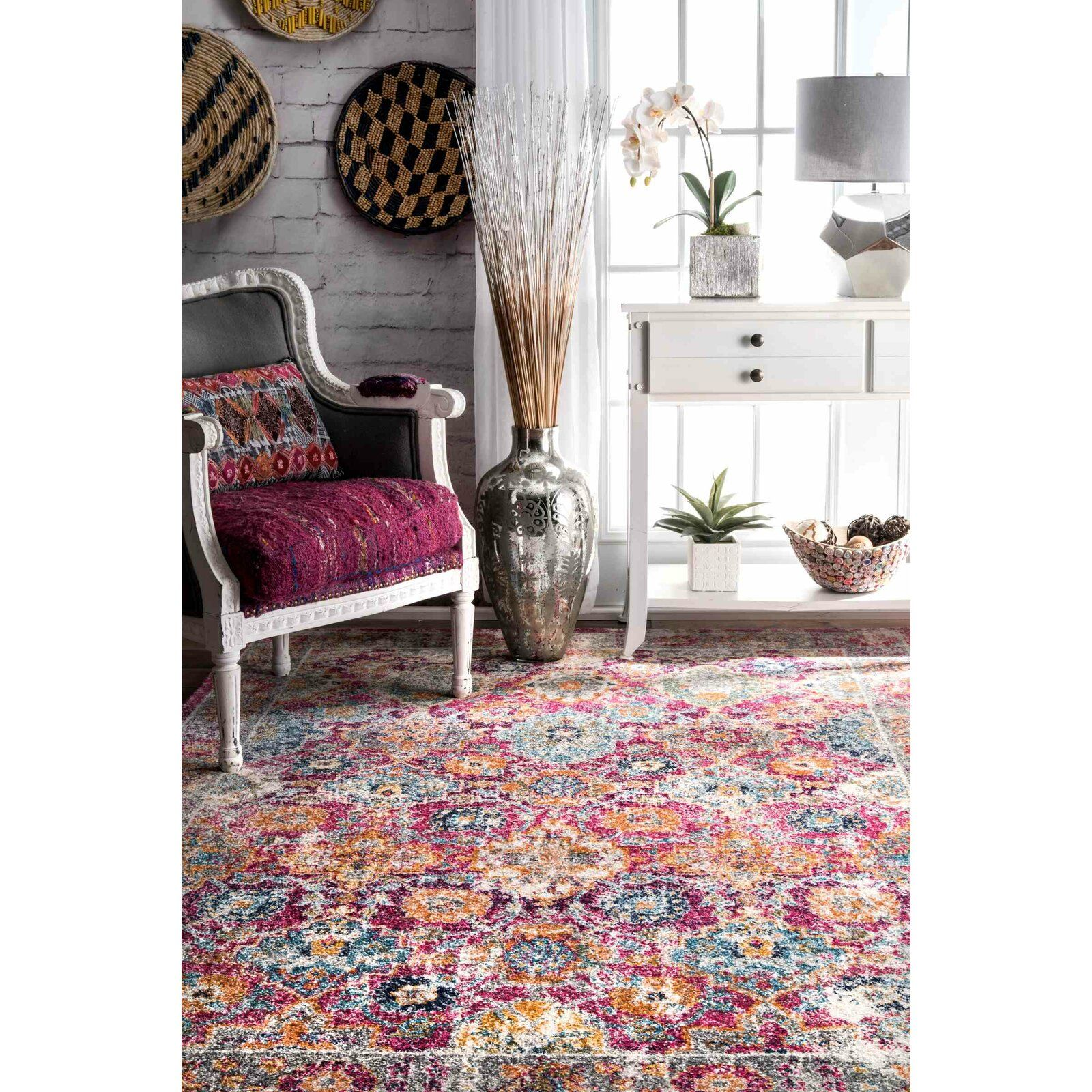 Paige Pink Area Rug In 2020 Living Room Decor Furniture Pink Area Rug Area Rugs