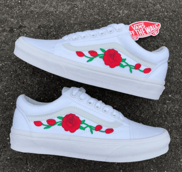 Rose vans, Vans shoes