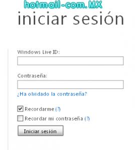 hotmail iniciar sesion en español