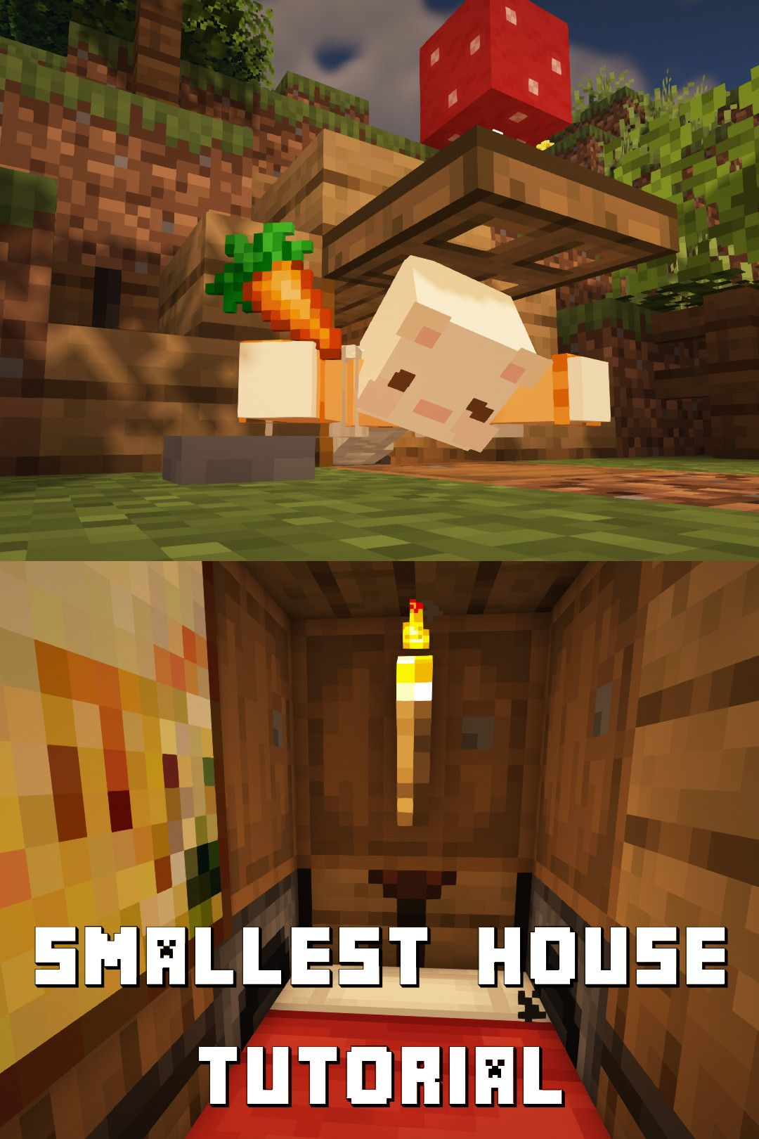 Smallest Minecraft House How To Build Minecraft Houses Minecraft Survival Minecraft House Designs