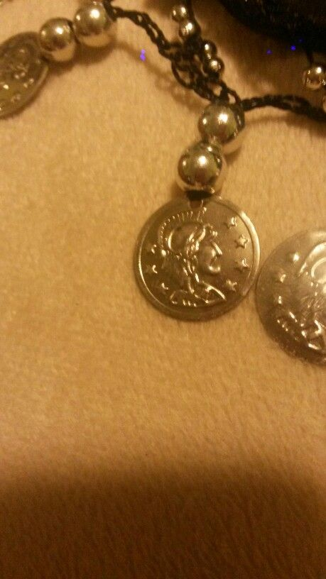 This is one of the gladiator coins on the Arabian hip scarf.