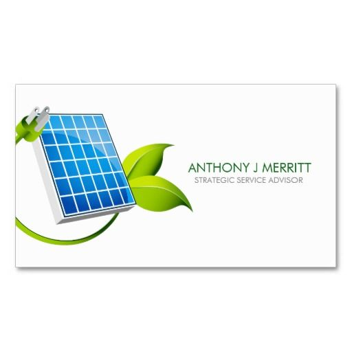 Solar panel icon business card business cards pinterest solar panel icon business card colourmoves Image collections