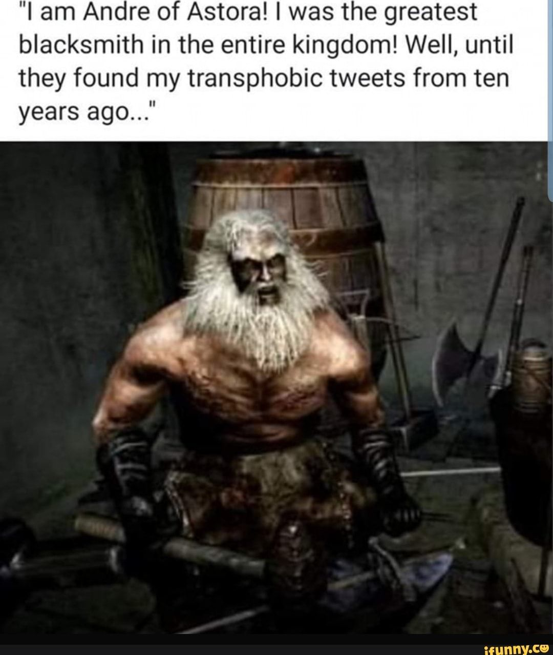 I Am Andre Of Astora I Was The Greatest Blacksmith In The Entire