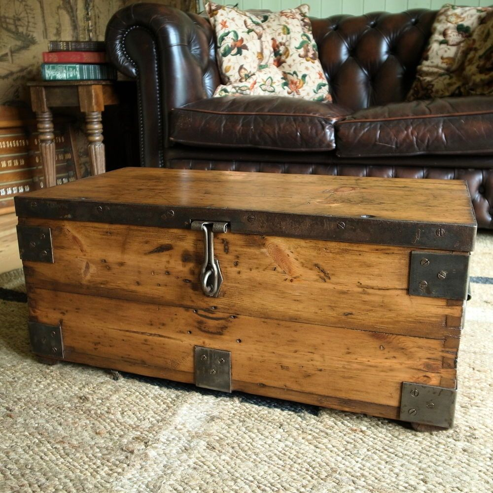 Www Vintagetrunksandchests Co Uk Rustic Wood Box Wooden Chest Rustic Chest