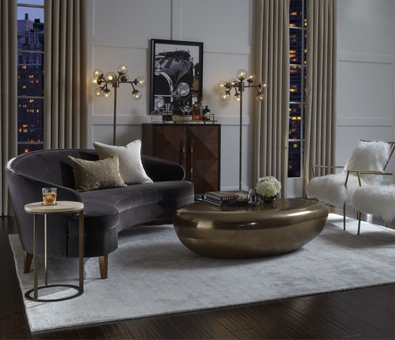 Accueil Mitchell Gold Bob Williams Living Room Lounge Living Dining Room Havenly Living Room