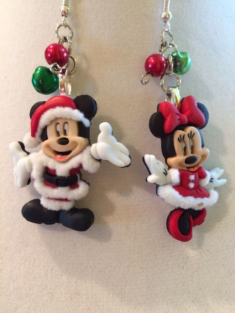 3f067bbc6d73d Details about Mickey/Minnie Mouse shaped hooped earrings in Gold or ...