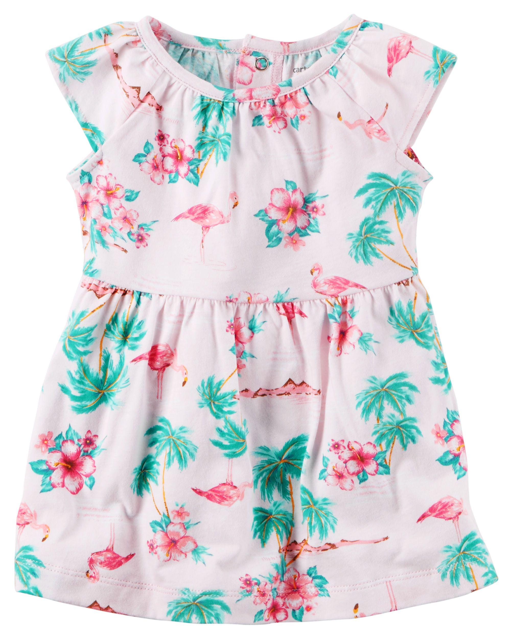 Flamingo Jersey Dress