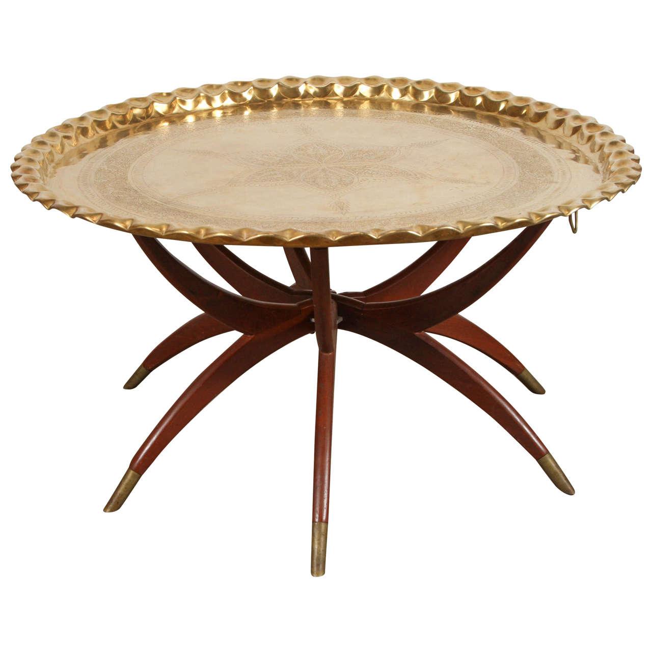 Moroccan Moorish Brass Tray Table On Spider Folding Stand In 2021 Brass Tray Table Brass Tray Tray Table [ 1280 x 1280 Pixel ]