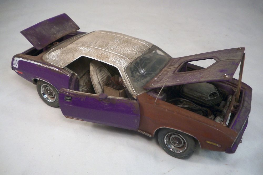 1970 Barracuda Cuda Franklin Mint 1 24 Barn Find Custom Weathered Unrestored TheFranklinMint