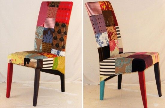 Upholster dining chairs in multi-colored patterns?