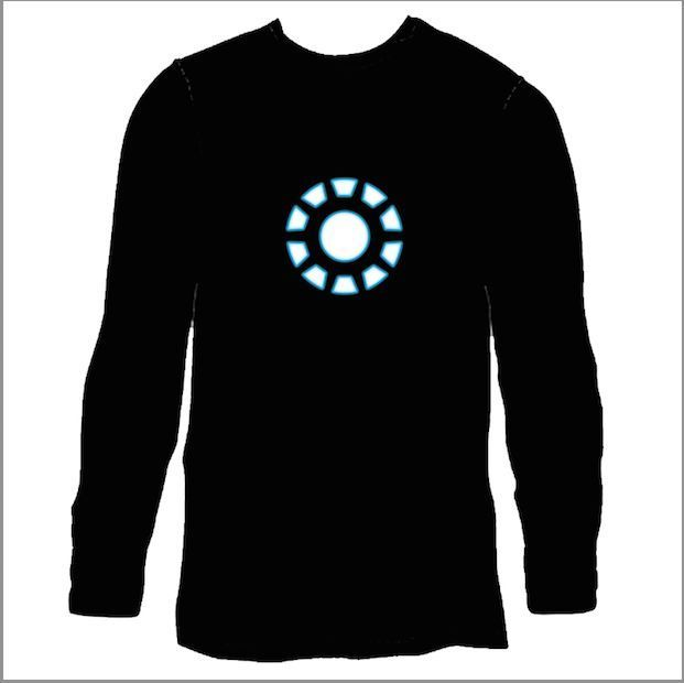 Details about Tony Stark Arc Reactor Men Sound Activated LED