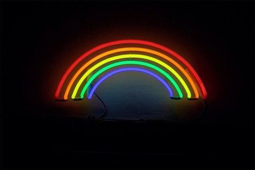 Arcoiris Letrero De Neon Fondos Para Teclado Fotos De Portada