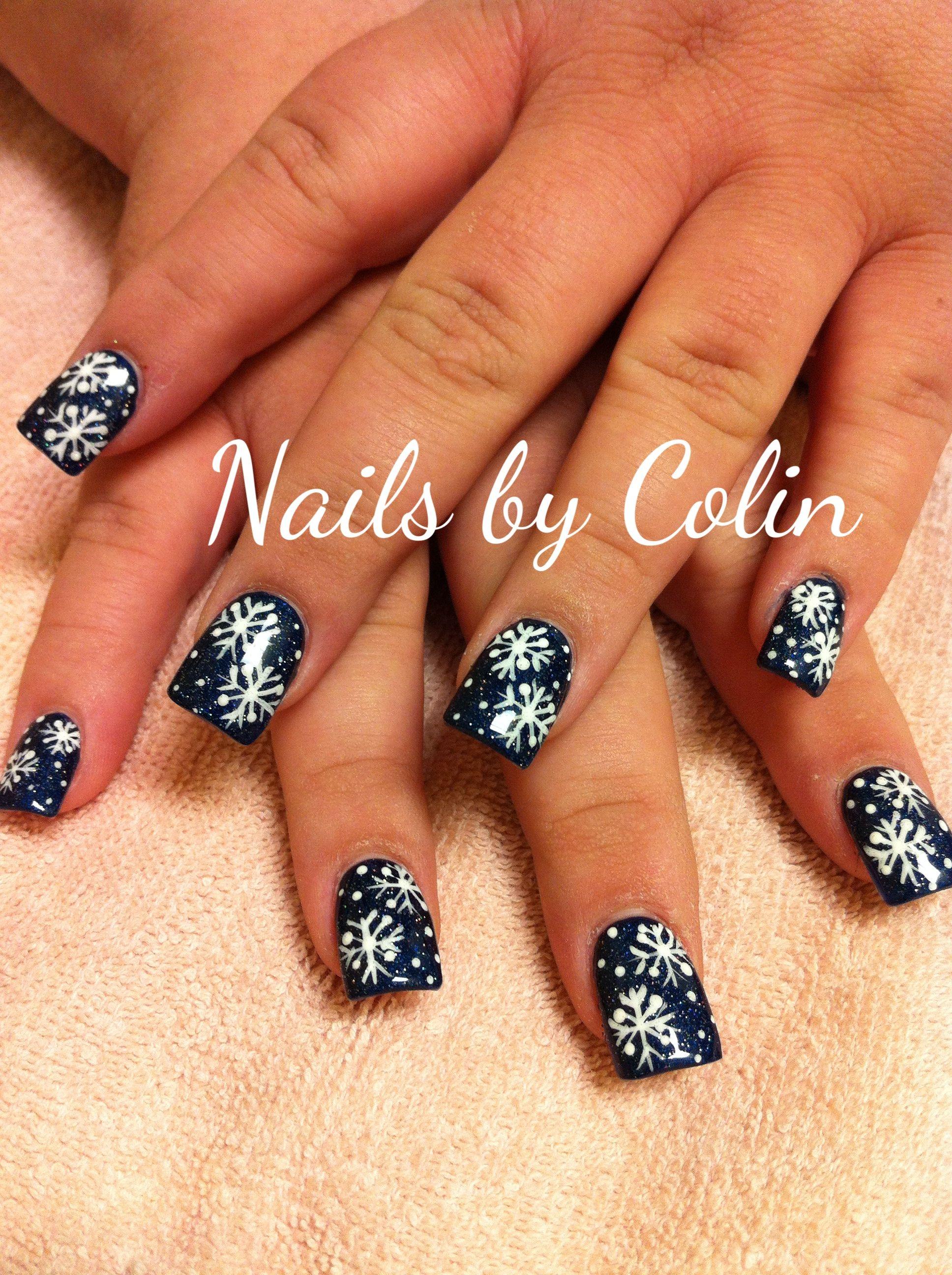 Snowflake Nail Art Nails Pinterest Snowflake Nail Art