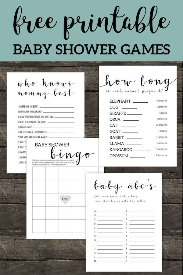 Free Printable Baby Shower Games  Free Printable Baby Shower Games Best simple and easy DIY games for boy girl or gender neutral b