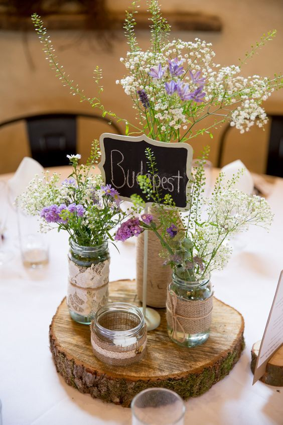 Natural Wedding Table Decorations
