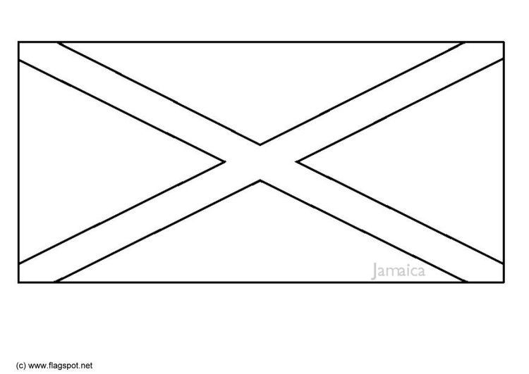 Coloring Page Flag Jamaica Flag Coloring Pages Jamaica Flag