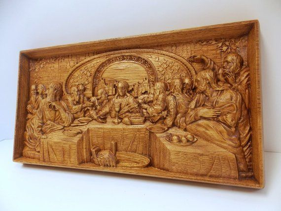 Wooden last supper the last supper wood carving wood wall art