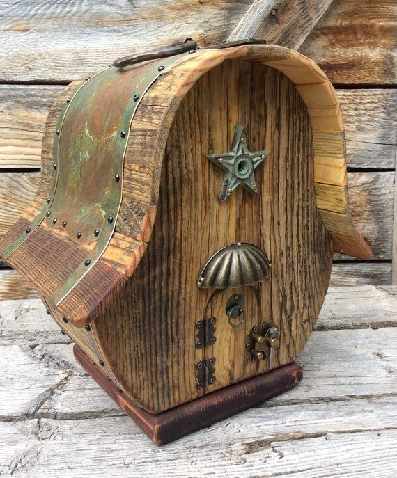 Unique Barn Birdhouse Barnwood Handmade Reclaimed Vintage Birdhouse Wedding Gift #3936 #birdhouses