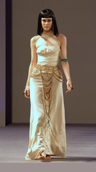 Trendy Style Dress By Laureluxe New Fashion Show Cool Egyptian Mythic Art