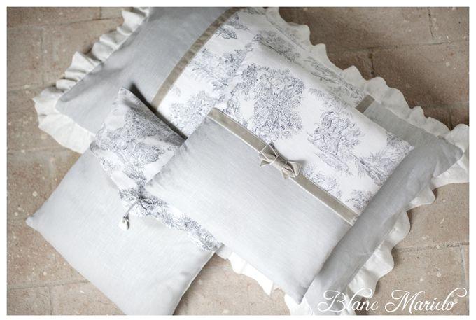 toile de jouy linen cushions Blanc Mariclo | Interior Decor Ideas ...