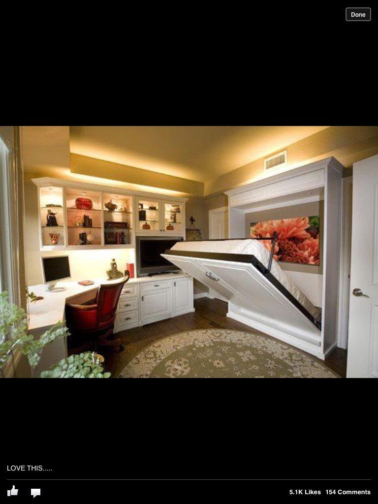 Office guest bedroom murphey bed bedrooms pinterest