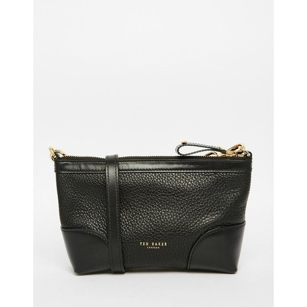 Ted Baker Leather Cross Body with Metail Bow Detail (€140) ❤ liked on Polyvore featuring bags, handbags, shoulder bags, black, bow crossbody, crossbody handbags, leather shoulder bag, leather crossbody purse and ted baker handbags