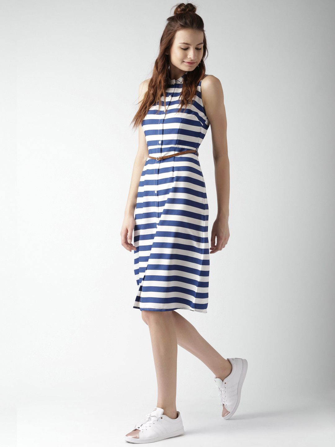 Mast Harbour Navy Blue White Striped Shirt Dress Western Tendencies Tshirt Parental Hitam Xxl