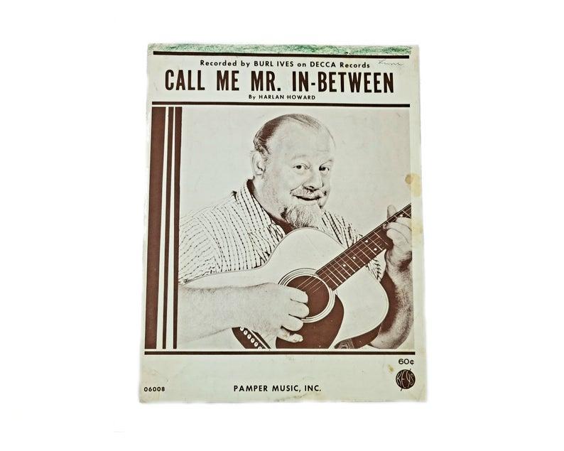 Call Me Mr In-Between 1962 Vintage Sheet Music #vintagesheetmusic