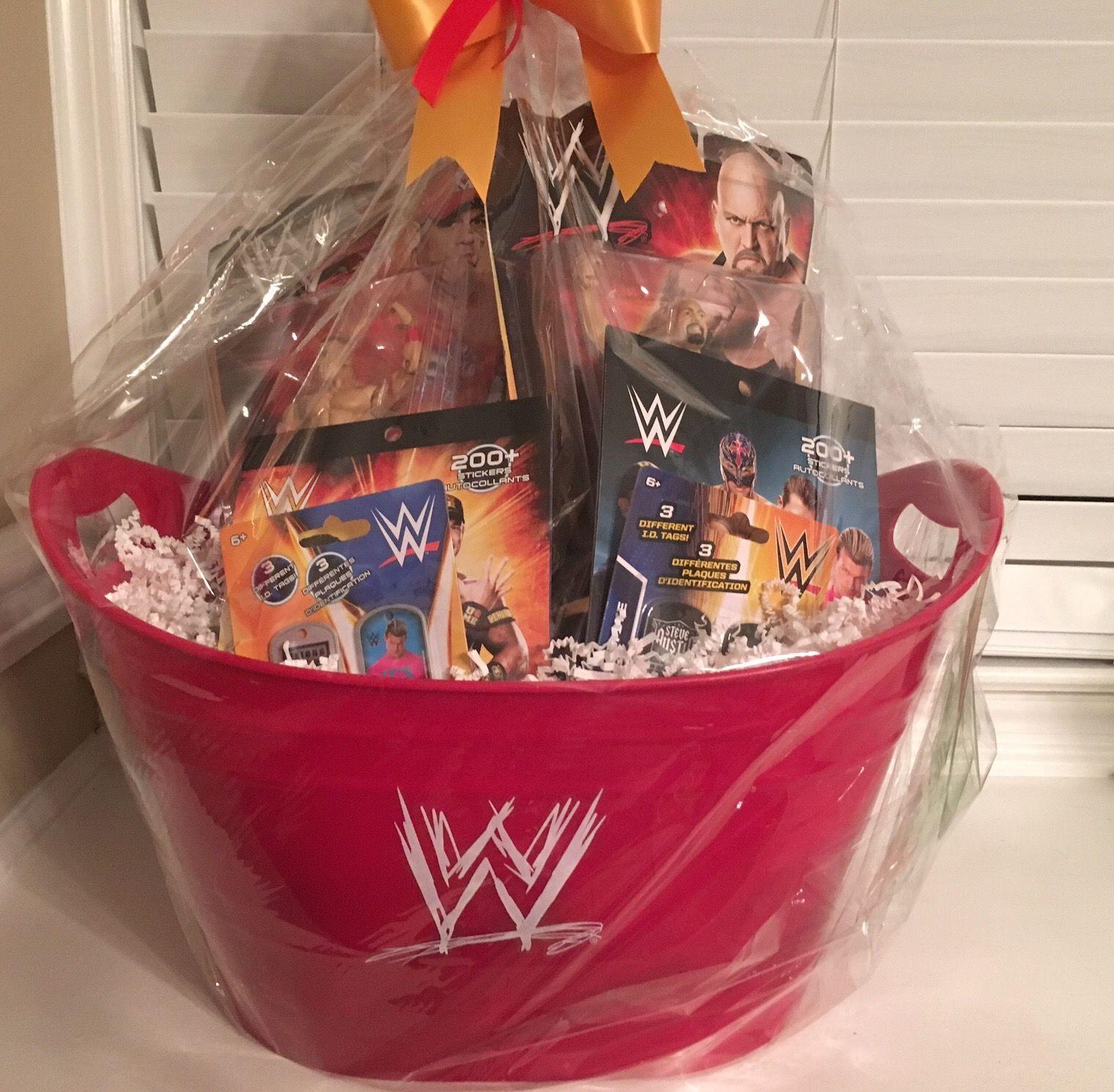 Wwe gift basket lbm pinterest easter and easter baskets wwe gift basket negle Images