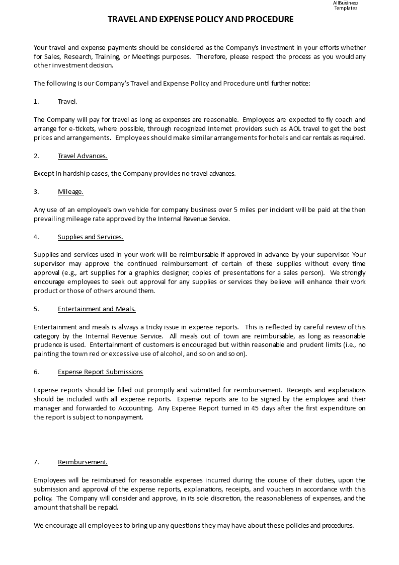 Travel And Expense Policy And Procedure How To Write A Travel And Expense Policy And Procedure Download This Travel Traveling By Yourself Policies Procedure