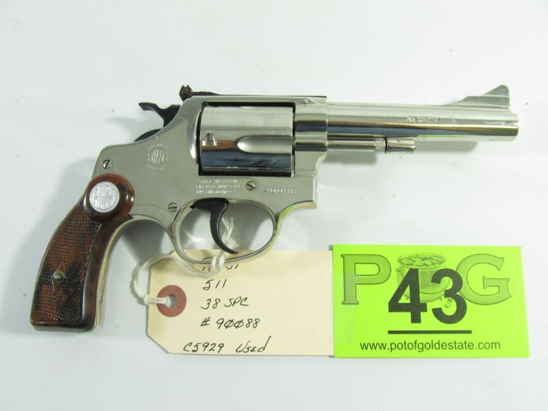 Lot 43 in the March 19th auction: Vintage Rossi Model 511 in 38 Special.  Firearm is in very nice condition and grades at 98% with original factory  finish.