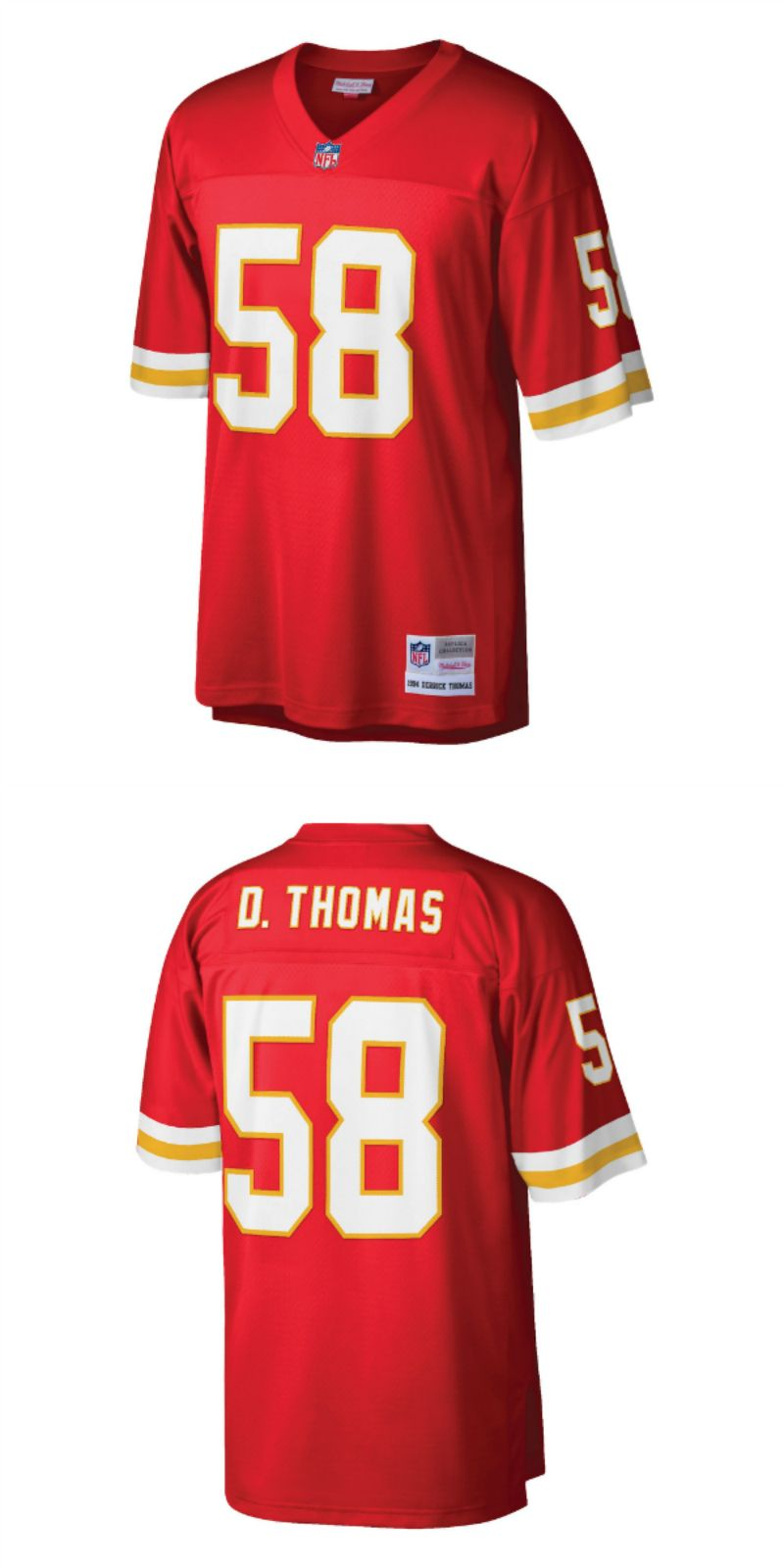 huge selection of ce91d c40a4 UP TO 70% OFF. Derrick Thomas Kansas City Chiefs Mitchell ...