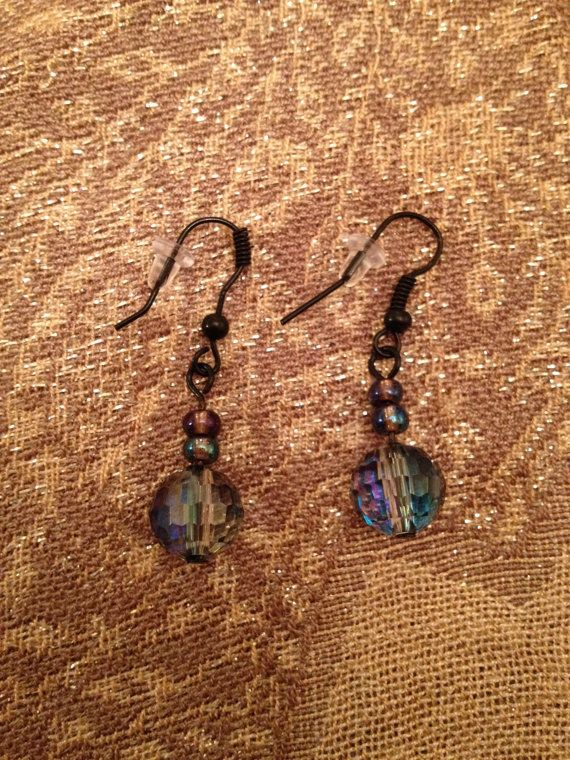 Multicoloured Bead Earrings by ofRingAndScale on Etsy, $6.00