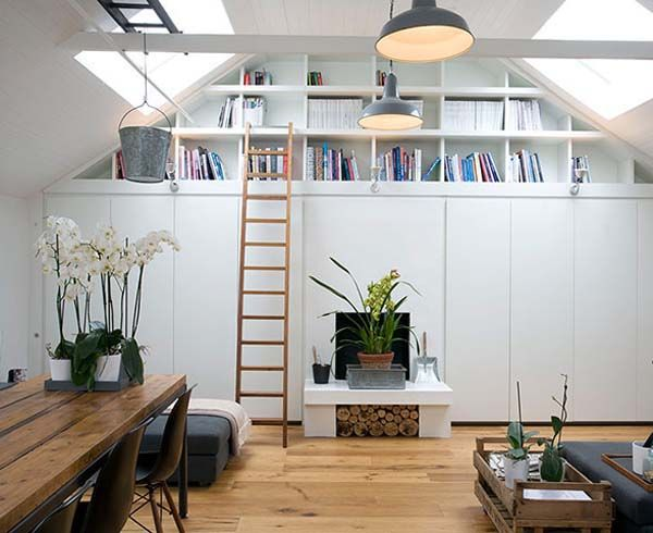 Garage Conversion Floor Plans For Libraries With Book