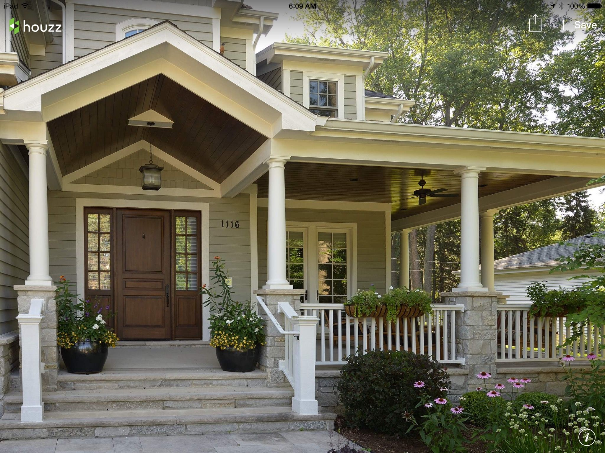 Beautiful Front Porch And House House Exterior Front Porch