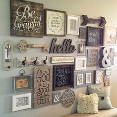 Decorate A Feature Wall With Wood Accents That You Hand Craft And Finish To Complement Your