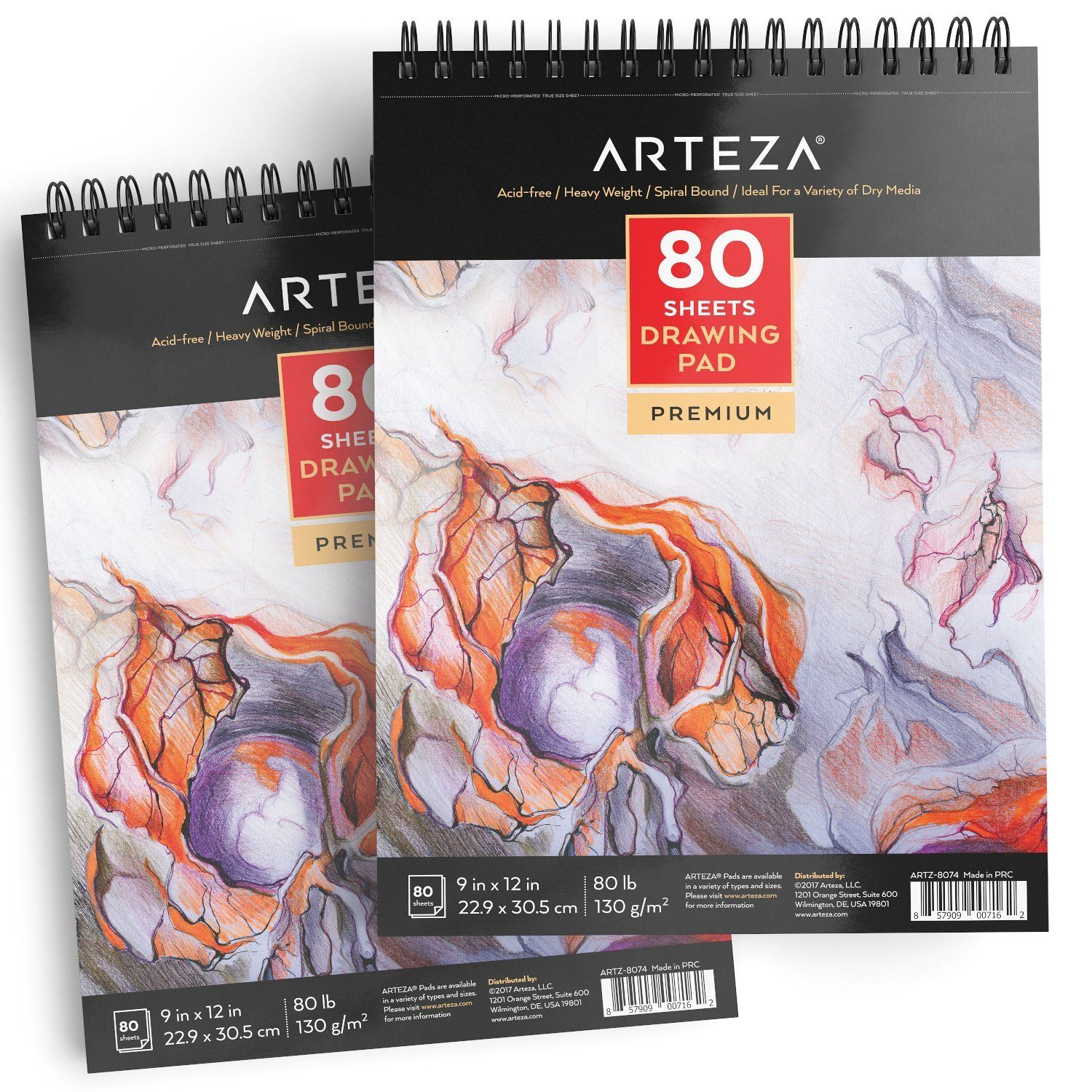 Drawing Pad 9 X 12 In 80 Sheets Pack Of 2 Drawing Sheet