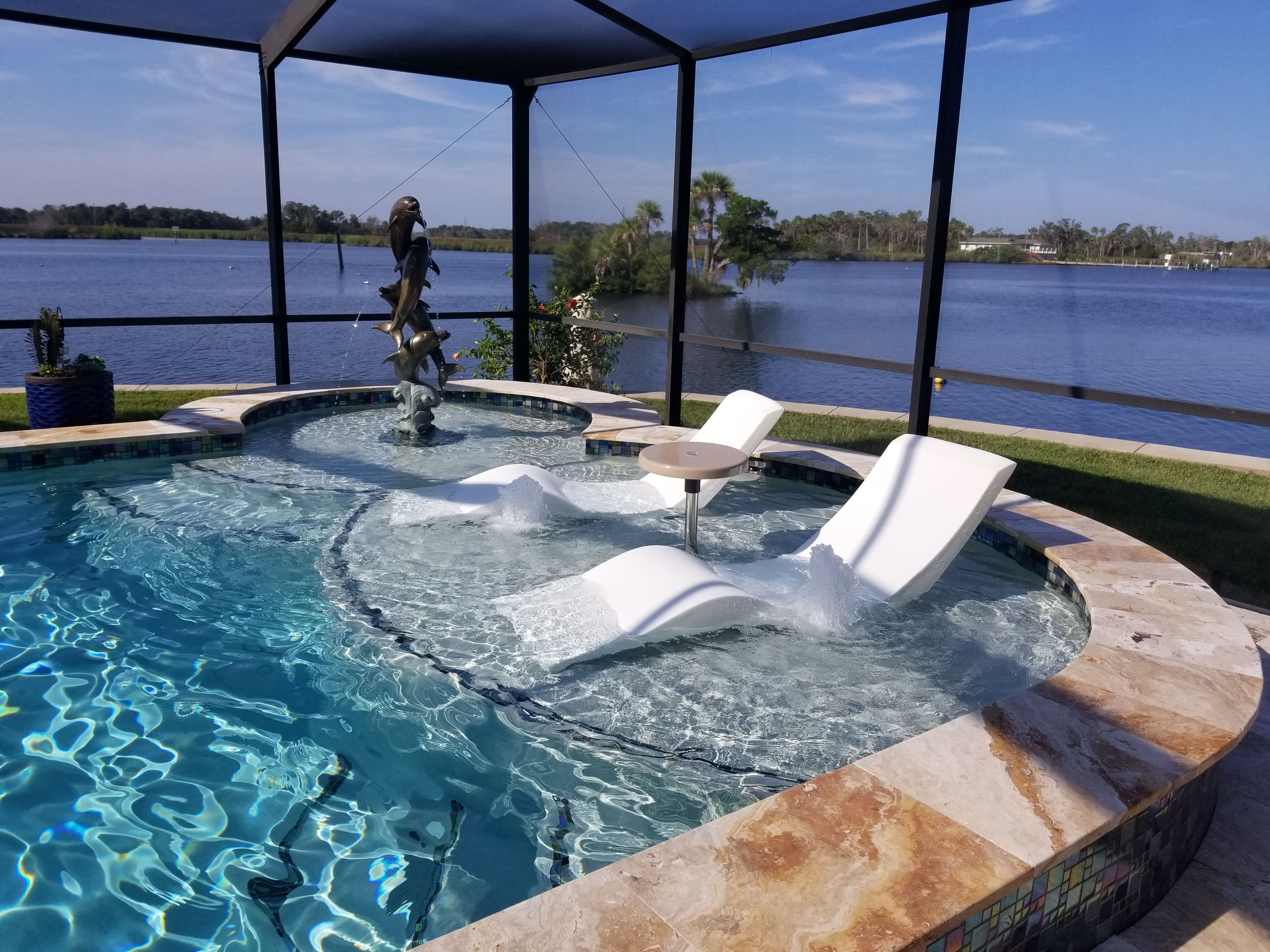 Aqua Chairs In Pool Chaise Lounge Chair In Florida Pool Chaise Indoor Pool Design Pool Lounger Lounge chairs for inside the pool