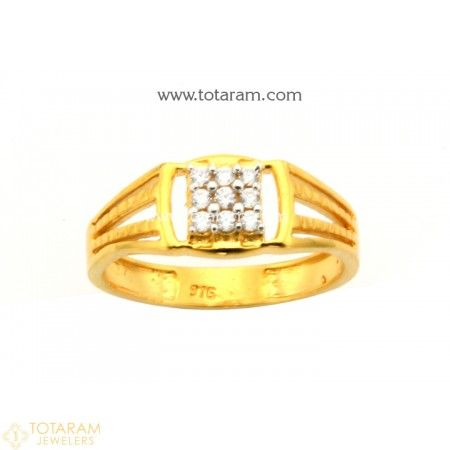 672f7e1d1 22K Gold Ring For Men with Cz - 235-GR4148 - Buy this Latest Indian Gold  Jewelry Design in 3.950 Grams for a low price of $266.99