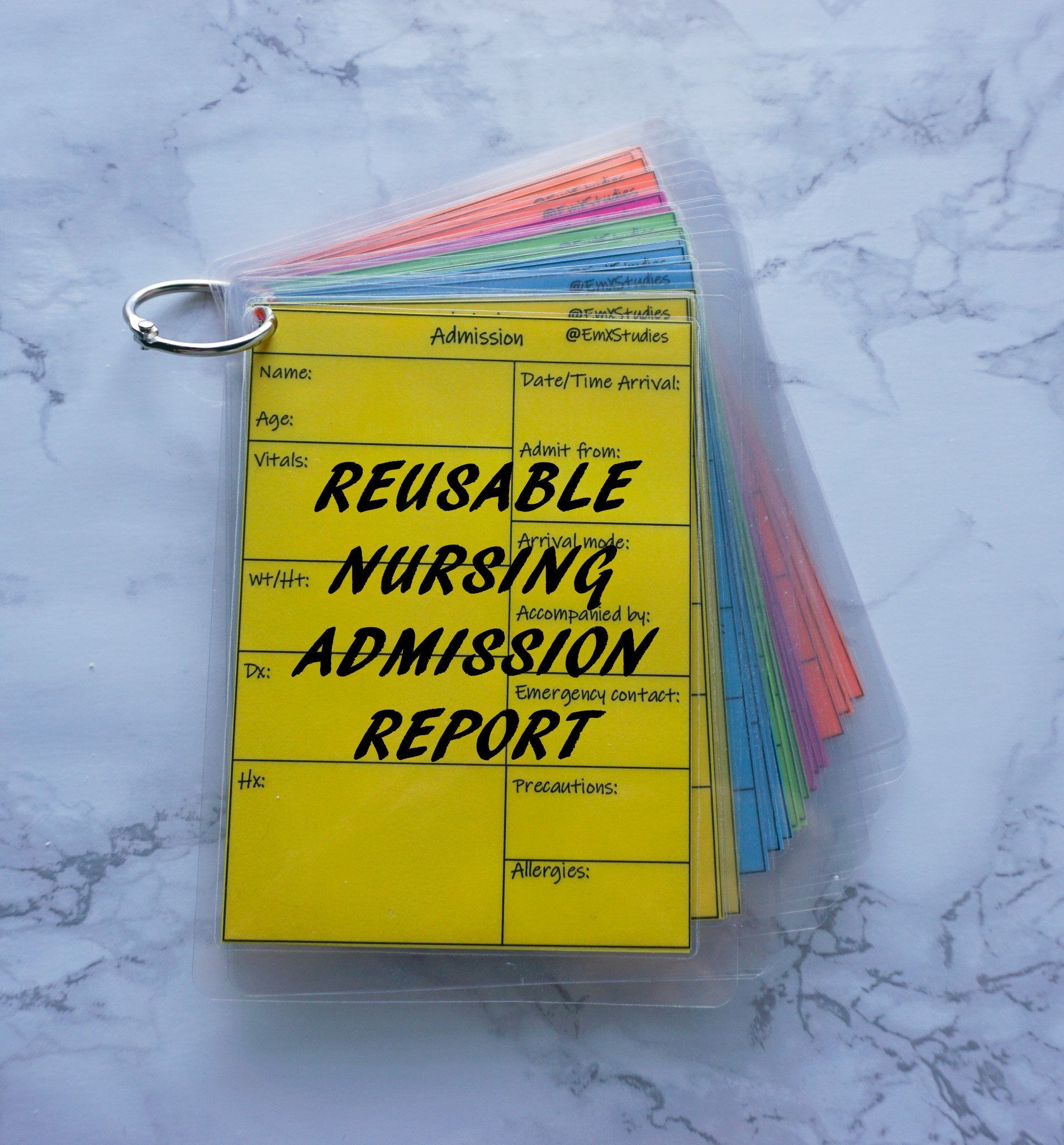Reusable New Admission Report Sheet New Patient Admission