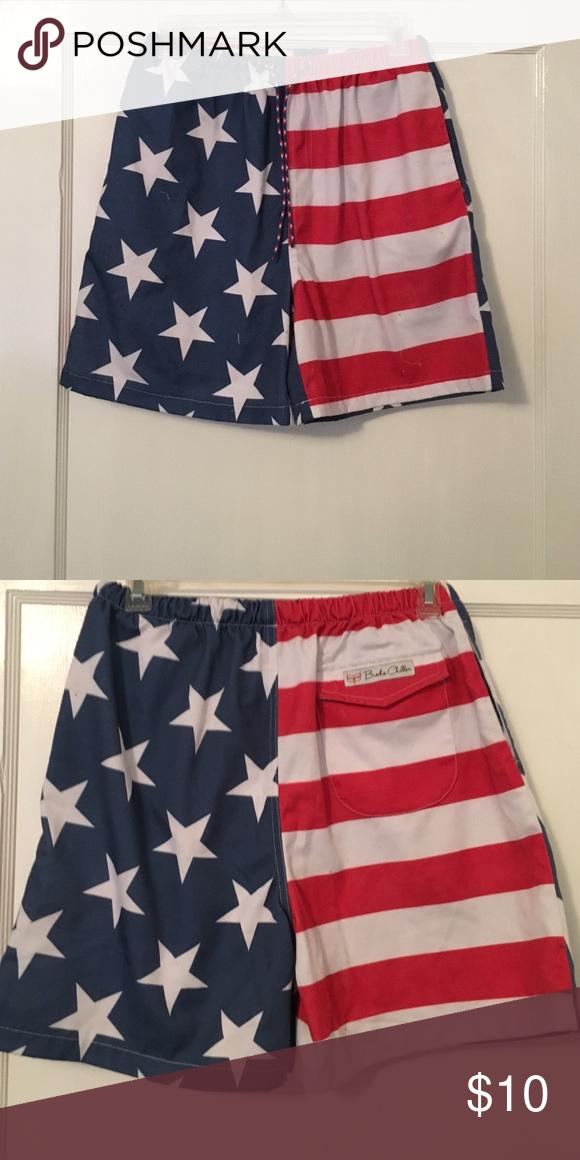 Flag swim trunks! Original Brodie Chiller swim trunks! Cool outdoor brand! Brodie Chiller Swim Hybrids