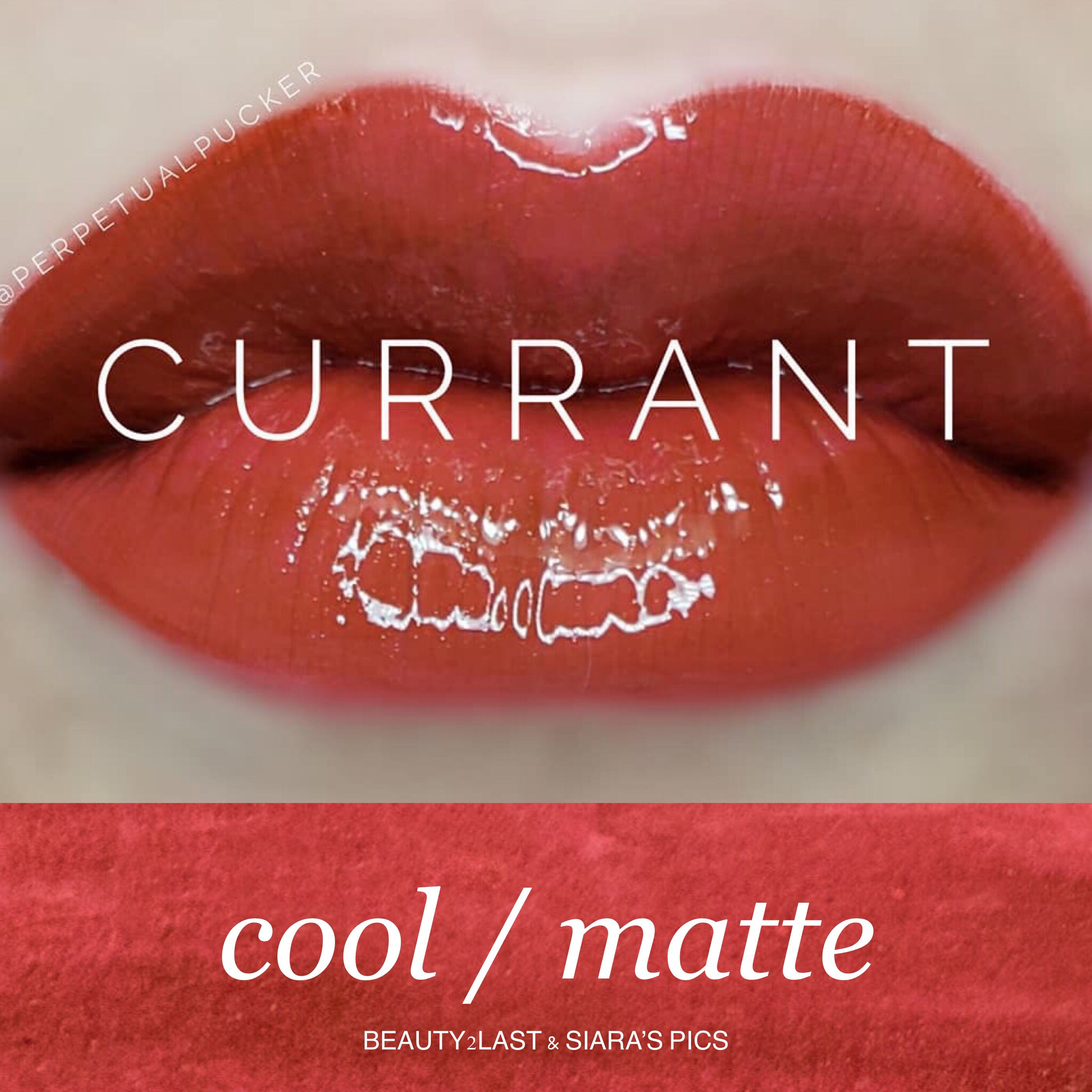 Currant Lipsense is a gorgeous currant-berry with adobe undertones. A beautiful rich lip color.