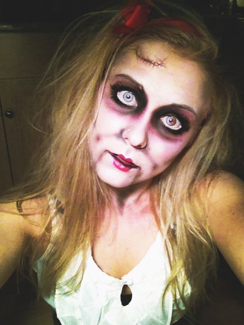 Scary Doll Makeup Halloween Pinterest Scary doll makeup, Scary - halloween costumes scary ideas