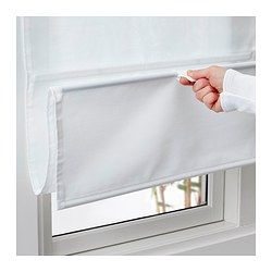 Ringblomma Vouwgordijn Wit 80x160 Cm Ikea Curtains With Blinds Roman Blinds Pull Down Blinds