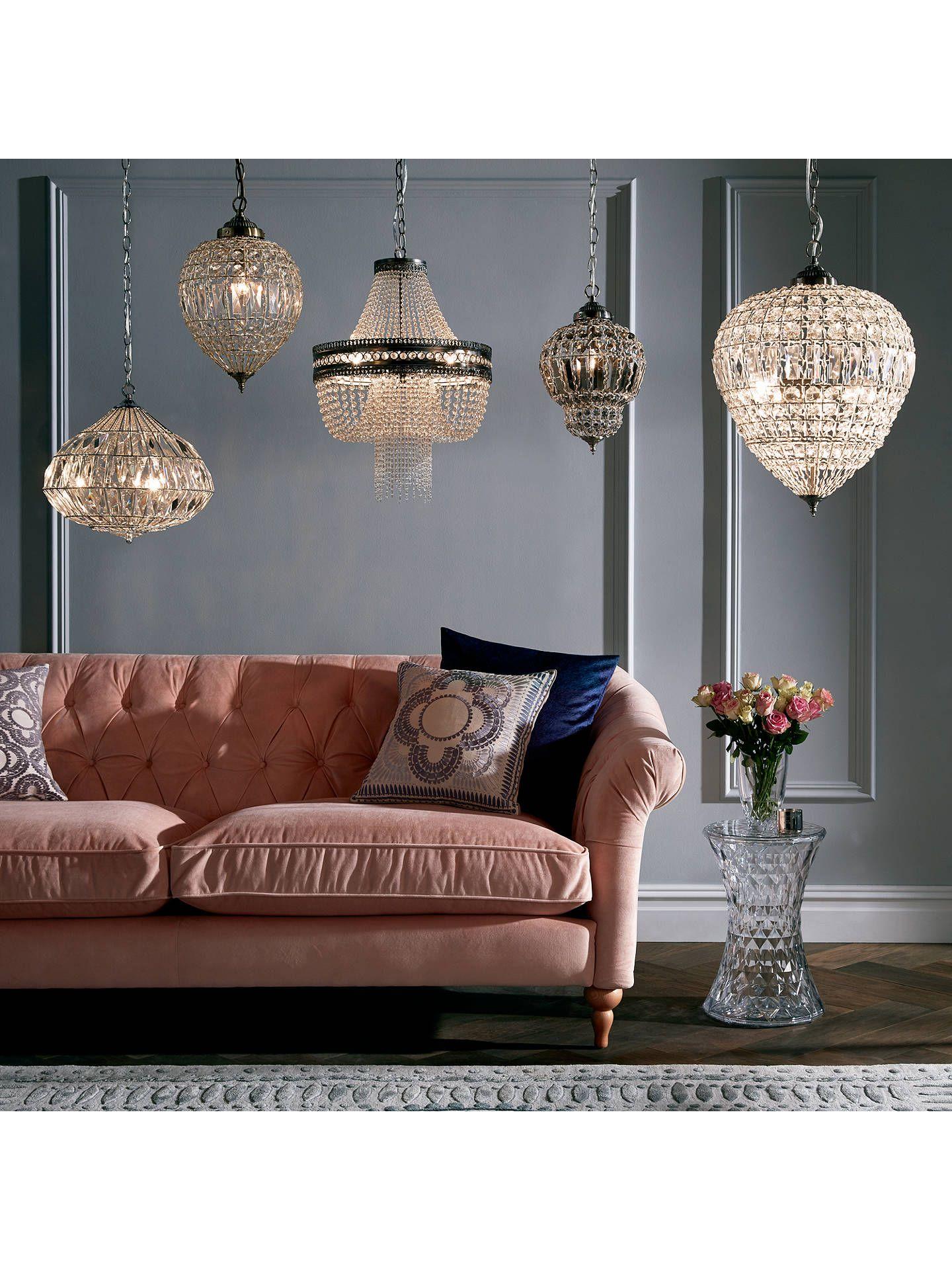 John Lewis Partners Dante Grande Ceiling Light Clear With Images Crystal Ceiling Light Ceiling Lights Bedroom Ceiling Light