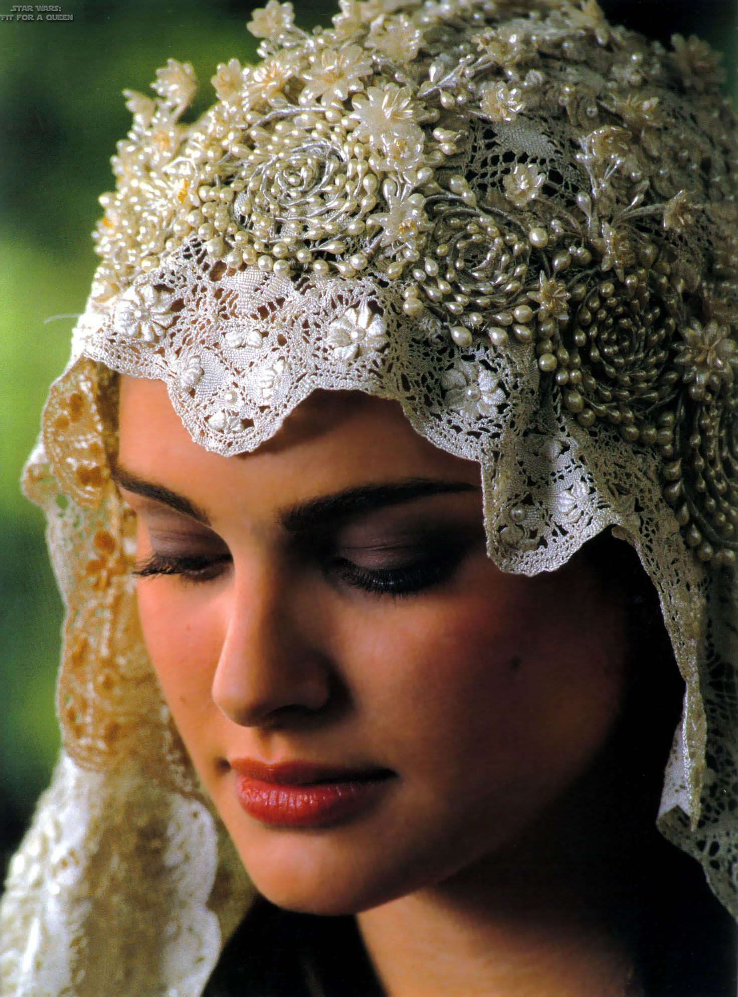 I just love her veil for her wedding dress its beautiful