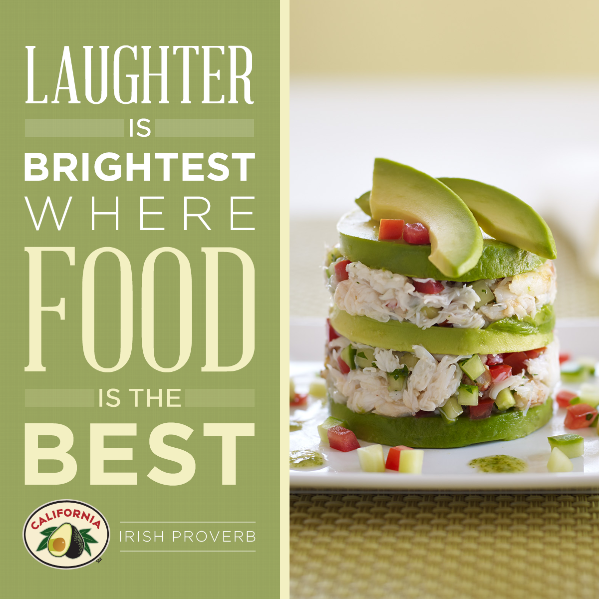 Laughter is brightest where food is best irish proverb quote food forumfinder Images