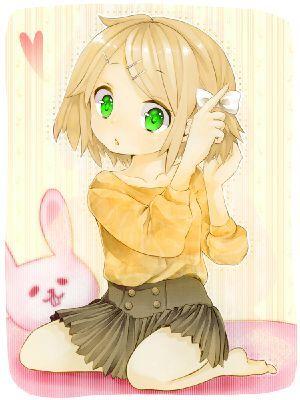 short blonde hair green eyed