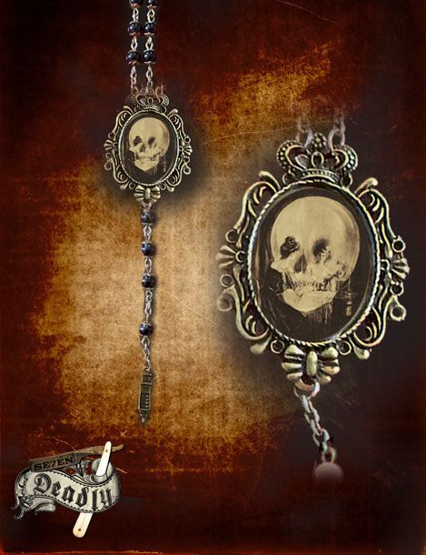 Se7en Deadly All Is Vanity Rosary Necklace
