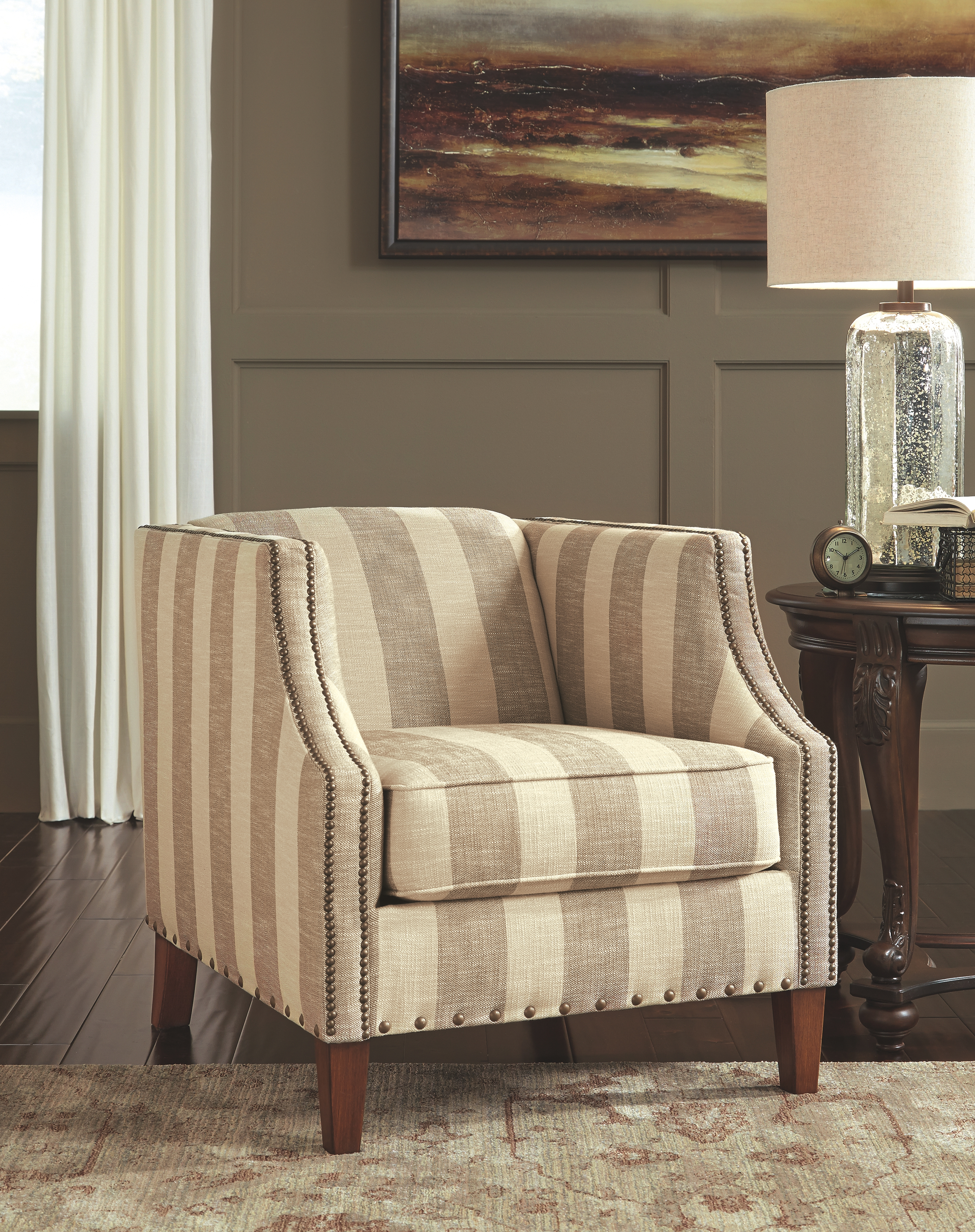Berwyn View Accents Chair Accent Chairs Stripe Accent Chair